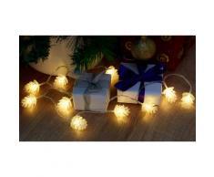 Lampadine di Natale GloBrite: 10 LED con pigne / 2x lampadine
