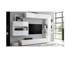Parete soggiorno Sorano 709007-2: Bianco lucido