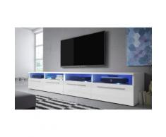 Mobile TV Selsey Living: Bianco-Bianco lucido / Siena Double