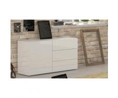 : Credenza 1 anta e 3 cassetti 1 ripiano interno / Bianco