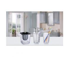 : Dispenser sapone 330 ml Candy, bicchiere portaspazzolini Candy, portascopino per WC Candy