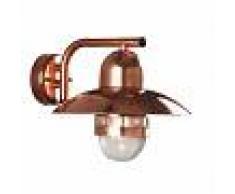 Nordlux lampada da parete Nibe a risparmio energetico rame