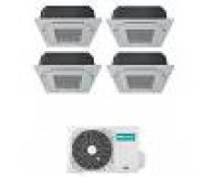 Hisense Condizionatore Cassetta A 4 Vie Quadri Split Inverter Gas R32 9000+9000+9000+12000 Btu 4amw81u4raa A++