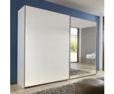 Armadio ad ante scorrevoli Match Up in bianco opaco e specchio