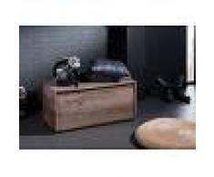 Cassapanca in legno sheesham - laccato / smoked oak 80x40x40 SYDNEY #238