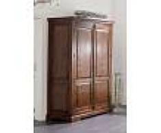 Armadio in legno acacia - laccato/ nougat 140x65x200 OXFORD #436