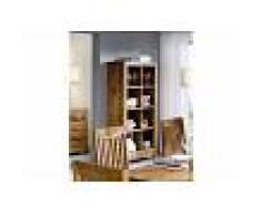 Mobile dispensa in legno acacia - laccato / miele dorato 90x40x180 SHAMAN #50