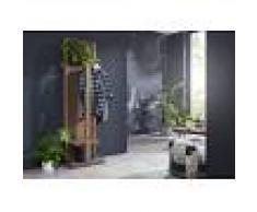 Attaccapanni in legno sheesham - oliato 55x35x200 NATURE GREY #002
