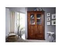 Armadio angolare in legno acacia - laccato / nougat 108x57x183 OXFORD #410
