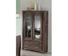 Mobile dispensa in legno sheesham - verniciato 100x45x180 METRO POLIS #101
