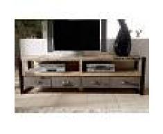 Mobile TV in legno mango / ferro - stampato 196x40x60 FACTORY #130