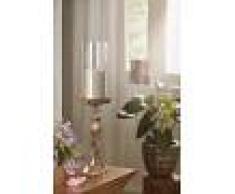 Candelabro con vetro - alluminio 12x12x44 DEKO #031