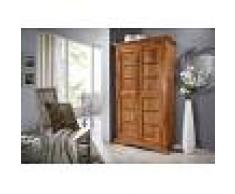 Armadio in legno acacia - laccato / miele 97x50x176 OXFORD #0401