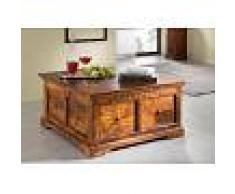 Cassapanca in legno acacia - laccato / miele 90x90x45 OXFORD #0416