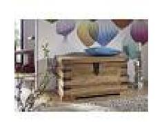 Cassapanca in legno sheesham - oliato 90x47x50 LEEDS #33