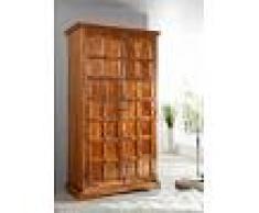 Armadio in legno acacia - laccato / miele 115x60x212 OXFORD #0422
