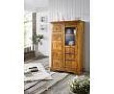 Mobile dispensa in legno acacia - verniciato 95x45x147 OXFORD #0417