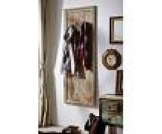 Attaccapanni in legno sheesham - oliato 55x3x150 NATURE GREY #001