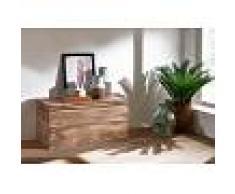 Cassapanca in legno sheesham - oliato 80x40x40 TORONTO #116