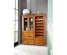 Dispensa - portabottiglie in legno acacia - verniciato 144x47x180 OXFORD #0519