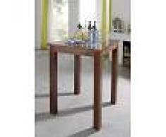 Tavolo da bar in legno acacia - laccato / nougat 85x85x106 OXFORD # 517