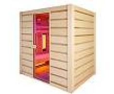 saune Sauna Holl's Hybrid Combi combinata infrarossi al quarzo e vapore finlandese 180 x 140 x 190 CM
