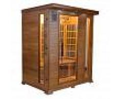 saune Sauna infrarossi 3 posti Aira 153 x 110 CM in Cedro Rosso Canadese