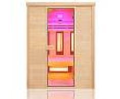 saune Sauna ad infrarossi 3 posti con emettitori Quarzo e Magnesio Wave