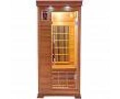 saune Sauna infrarossi 1 posto Aira 94 x 90 CM in Cedro Rosso Canadese