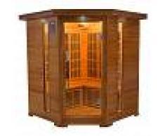 saune Sauna infrarossi angolare 3/4 posti Aira 150 x 150 CM in Cedro Rosso Canadese