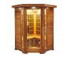 saune Sauna infrarossi 2/3 posti Aira 120 x 120 CM in Cedro Rosso Canadese