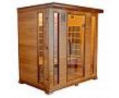 saune Sauna infrarossi 4 posti Aira 175 x 120 CM in Cedro Rosso Canadese