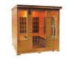 saune Sauna infrarossi 4/5 posti Aira CLUB 185 x 185 CM in Cedro Rosso Canadese