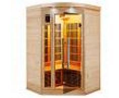 saune Sauna ad angolo a infrarossi 2 o 3 posti Timo in Abete