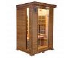saune Sauna infrarossi 2 posti Aira 120 x 105 CM in Cedro Rosso