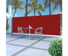 vidaXL Tenda da Sole Laterale Retrattile 180 x 500 cm Rossa