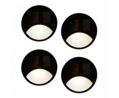 Luxform Lampade Solari LED da Giardino Iris 4 pz a Parete 3 lm