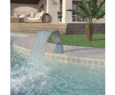 vidaXL Fontana per Piscina in Acciaio Inossidabile 64x30x52 cm Argento
