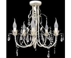 vidaXL Lampada da Soffitto Lampadario in Cristallo con 5 Portalampade