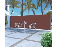 vidaXL Tenda da Sole Laterale Retrattile 160 x 500 cm Marrone