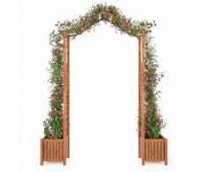 vidaXL Arco da Giardino con Fioriera Massello di Acacia 180x40x218cm
