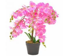 vidaXL Orchidea Artificiale con Vaso Rosa 60 cm
