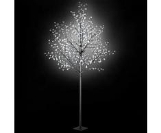 vidaXL Albero di Natale Fiori a LED Interno Esterno IP44 300 cm Bianco