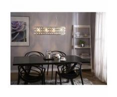 Beliani Lampada da soffitto in color cromo e cristallo TENNA L