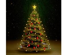vidaXL Luci per Albero di Natale 180 LED Interno Esterno IP44 180cm