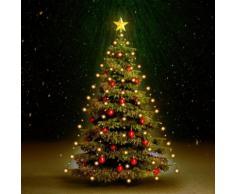 vidaXL Luci per Albero di Natale 210 LED Interno Esterno IP44 210 cm