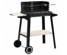 vidaXL Barbecue Mobile a Carbonella con Ruote