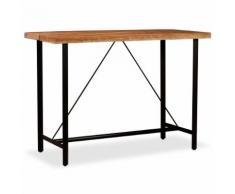 vidaXL Tavolino da Bar in Legno Massello di Sheesham 150x70x107 cm