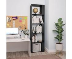 vidaXL Libreria/Divisorio Nero 45x24x159 cm in Truciolato