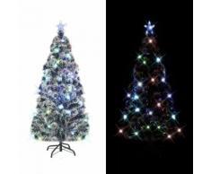 vidaXL Albero di Natale Artificiale con Supporto/LED e 220 Rami 180 cm